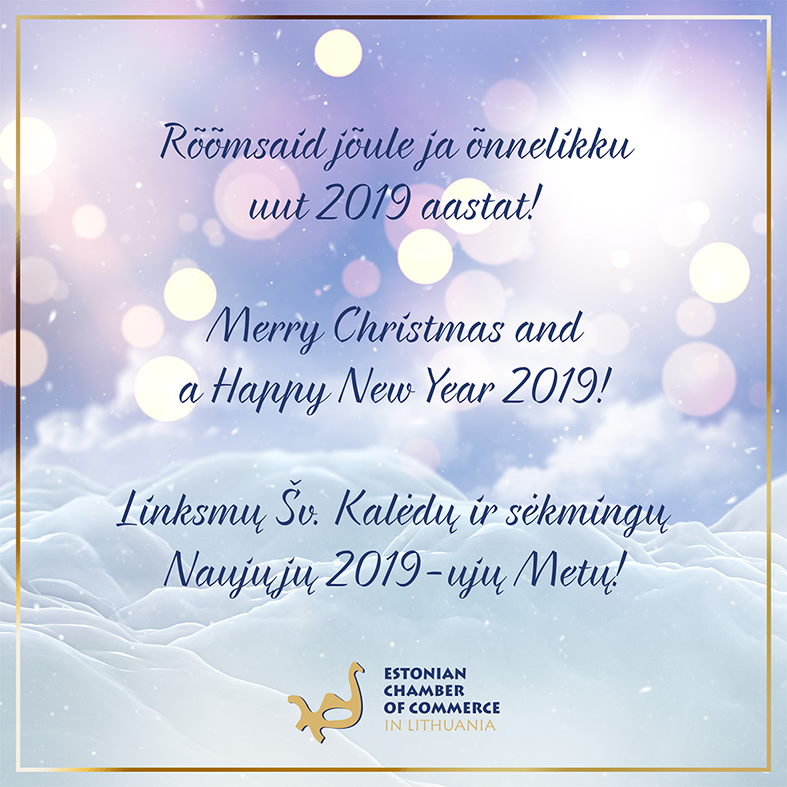 Merry Christmas and a Happy New Year 2019!